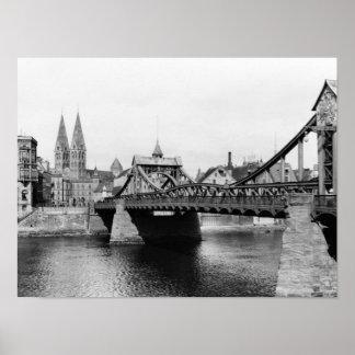 Weser Bridge, Bremen, c.1910 Poster