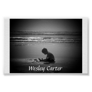 Wesley at the beach poster