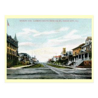Wesley Ave., Ocean City, New Jersey Vintage Postcard