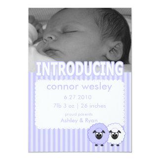 Wesley Boy Birth Announcement