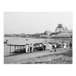 Wesley Lake, Asbury Park: 1901 Postcard