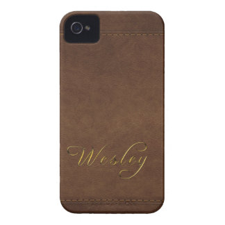 WESLEY Leather-look Customised Phone Case