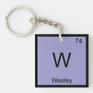 Wesley Name Chemistry Element Periodic Table Single-Sided Square Acrylic Keychain