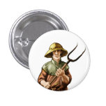 Wesnoth peasant, Nedry (human) Pinback Button