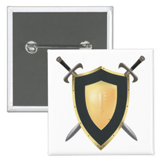 Wesnoth shield & crossed swords logo button