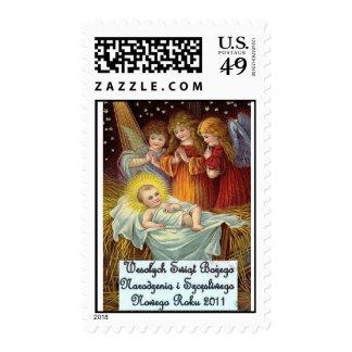 Wesolych Swiat Bozego Narodzenia Polish Christmas Postage Stamps