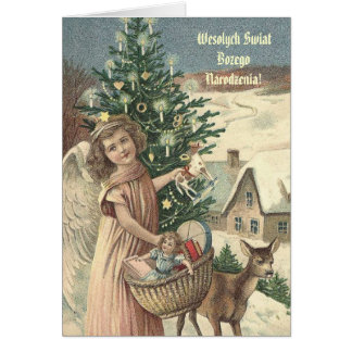 ¡Wesolych Swiat Bozego Narodzenia! Tarjeta De Felicitación