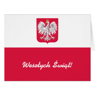 Wesołych Świąt Flaga Polski - Polish Flag Card