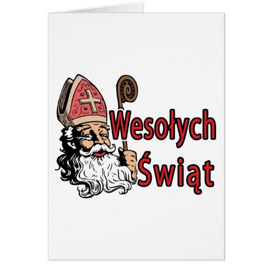 Wesolych Swiat St. Nicholas Card