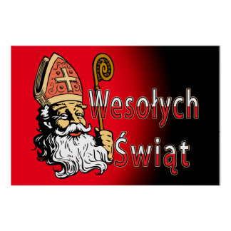 Wesolych Swiat St. Nicholas Poster