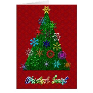Wesolych Swiat - tarjeta de las Felices Navidad
