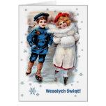 Wesolych Swiat. Tarjeta de Navidad polaca