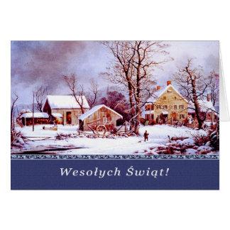 Wesolych Swiat. Tarjetas de Navidad polacas