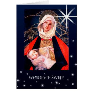 Wesolych Swiat. Tarjetas de Navidad polacas de la