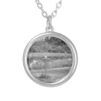 Wessel Pines Disc Golf Course Silver Plated Necklace