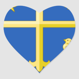 WESSEX COAT OF ARMS HEART STICKER