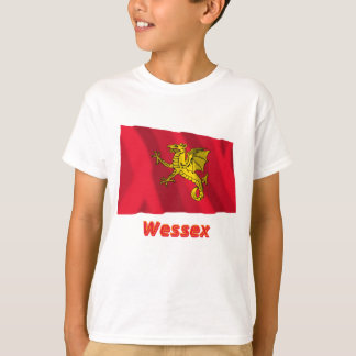 Wessex Waving Flag with Name T-Shirt