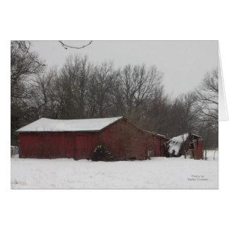 West 24 Highway Barn Card