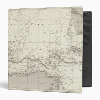 West Africa Map 3 Ring Binder
