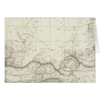 West Africa Map Card