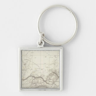 West Africa Map Keychain