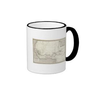 West Africa Map Mugs
