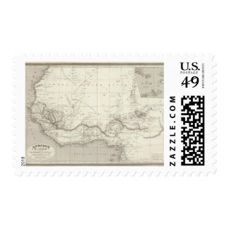 West Africa Map Postage
