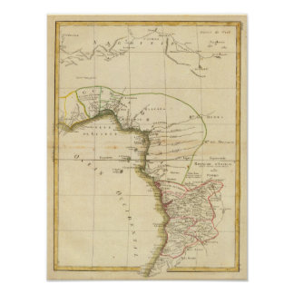 West Africa Map Print