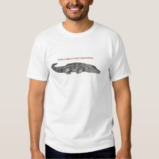 West African Nile Crocodile T-shirts