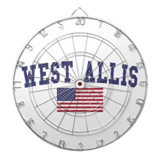 West Allis US Flag Dartboard With Darts