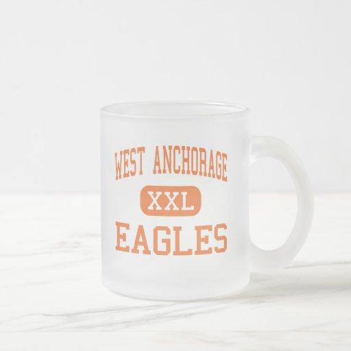 West Anchorage - Eagles - High - Anchorage Alaska 10 Oz Frosted Glass Coffee Mug