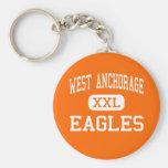 West Anchorage - Eagles - High - Anchorage Alaska Key Chains