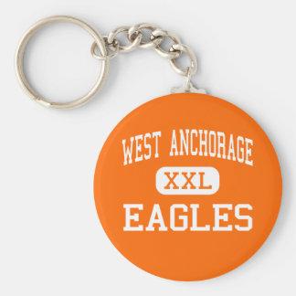 West Anchorage - Eagles - High - Anchorage Alaska Keychain