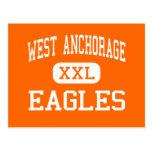 West Anchorage - Eagles - High - Anchorage Alaska Postcard