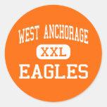 West Anchorage - Eagles - High - Anchorage Alaska Sticker