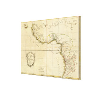 West and Central Africa Stretched Canvas Print