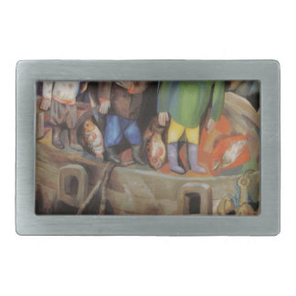 West and East by Pavel Filonov Rectangular Belt Buckle
