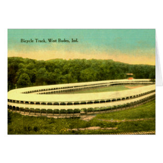 West Baden, Indiana Bicycle Track Greeting Card