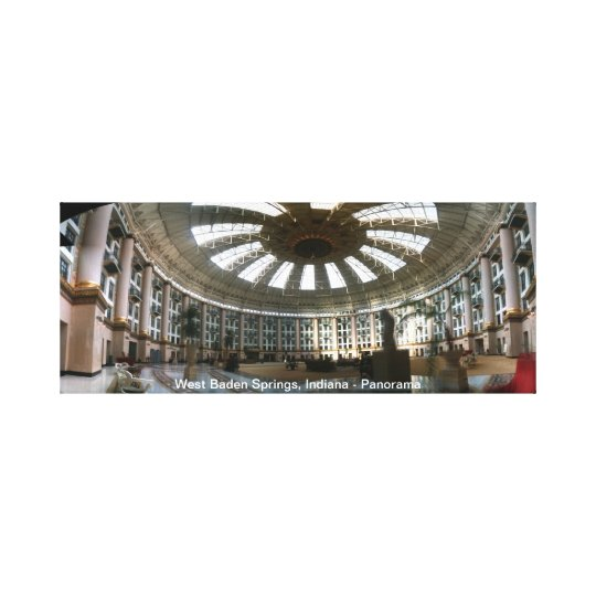 West Baden Springs, Indiana - Panorama Canvas Print