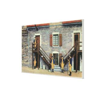 West Barracks, Ethan Allen Stairway Scene Canvas Print