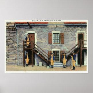 West Barracks, Ethan Allen Stairway Scene Poster
