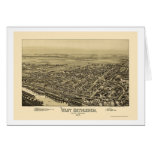 West Bethlehem, PA Panoramic Map - 1894 Greeting Cards