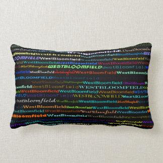 West Bloomfield Text Design I Lumbar Pillow