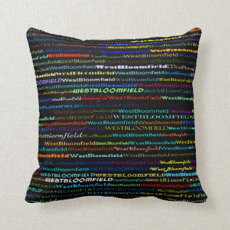West Bloomfield Text Design I Throw Pillow