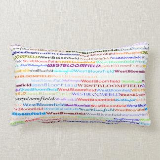 West Bloomfield Text Design II Lumbar Pillow