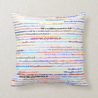 West Bloomfield Text Design II Throw Pillow