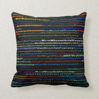 West Bloomfield Township TextDesign I Throw Pillow