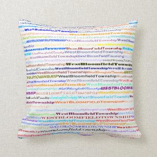 West Bloomfield Township TextDesignII Throw Pillow