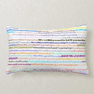 West Bloomfield Township TextDsignII Lumbar Pillow