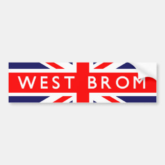 West Bromwich UK Flag Bumper Sticker